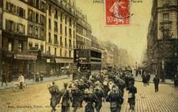CPA PARIS RUE DE FLANDRE. COULEUR. EDIT ROUVILLAIN TABAC 107 RUE DE FLANDRE - Distrito: 19