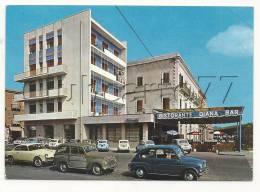 Milazzo (Italie, Sicilia) : Voitures Fiat Devant L'Hôtel Ristorente Bar Diana En 1966 (animé). GF - Non Classificati