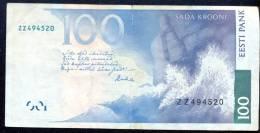 Estonia 100 Krooni 1999 REPLACEMENT Note ZZ Serie  RARE   # P- 88 - Estonia