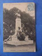 28-CHARTRES Statue De Noel Ballay , Circulée En 1904 , 2 Scans - Chartres