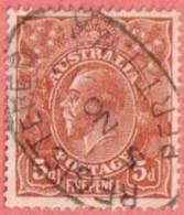 "AUS SC #36  1924 King George V W/SON (""REGISTERED / PERTH W.A / 5 NO 17"") CV $7.25 - 1913-36 George V: Heads"