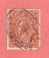 "AUS SC #36  1924 King George V W/SON (""REGISTERED / PERTH W.A / 5 NO 17"") CV $7.25 - Usati"