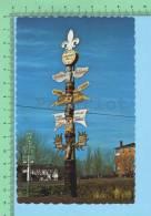 Quebec Canada  (Le Totem De La Capitale De L'artisanat St-Jean-Port-Joli )Post Card Carte Postale 2scan - Quebec