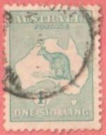 AUS SC #42  1915 Kangaroo And Map  W/lt Toning, CV $35.00 - Used Stamps