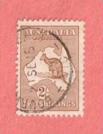 "AUS SC #43  1915 Kangaroo And Map   (""21 SE 15""), CV $125.00 - Used Stamps"