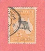 AUS SC #44  1915 Kangaroo And Map  W/nibbed Perf @TR, CV $475.00 - Used Stamps