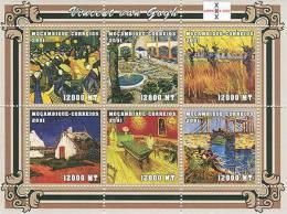 M1223 Mambique 2001 Art Painting S/s Vincent Van Gogh  Michel: 2085-209Scott: 1474 - Impressionisme