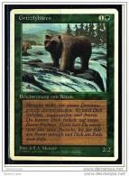 Karte Magic The Gathering  -  Beschwörung Von Bären  -  Grizzlybären  -  Deutsch - Magic The Gathering