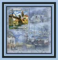 M1264 Mambique 2001 Art Painting S/s Alfred Sisley Bridge Ship - Impressionisme