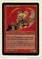 Karte Magic The Gathering  -  Wütender Goblin  -  Beschwörung Eines Goblins  -  Deutsch - Magic The Gathering