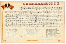 """Partition Et Paroles De La """"Brabançonne"""" Hymne Belge (drapeaux) Pas Circulé, Cpsm 9x14 - Musique Et Musiciens"""