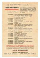 Calendrier   1950    école Universelle - Calendriers