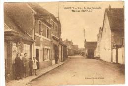 BROUE - EURE ET LOIR - LA RUE PRINCIPALE - MAISON RENARD - ANIMATION - Sonstige Gemeinden