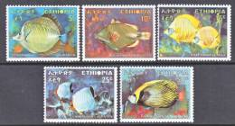 Ethiopia  558-62    *     FAUNA  TROPICAL  FISH - Ethiopia