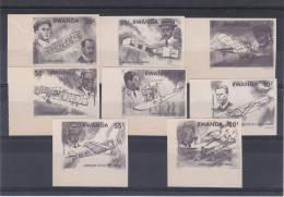 avions - aviateurs - Rwanda - COB 889 / 96  ( * ) - �preuves en noir - rare