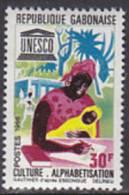 Gabun 1966. Analphabetentum / UNESCO (B.0421) - Gabun (1960-...)