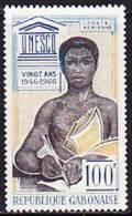 Gabun 1966. Eingeborener Mit Buch, UNESCO (B.0422) - Gabun (1960-...)