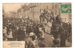 RAMBERVILLERS - VOSGES - CAVALCADE DU 1er JUIN 1924 - CHAR DES REINES - TRES BELLE ANIMATION - Rambervillers