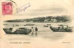 Inde -  Malabar Hill -   Bombay - édit; Cliton & Co. - CPA  (voir 2 Scans) - India