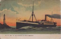 Ss SEYDLITZ North-German Lloyd Passenger Ship 1908 Private Mailing Card Postcard - Piroscafi