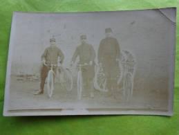 Carte Postale -photo 13.5cmx9cm-militaires Cycliste 11e Section 34 E Artillerie 12 E Corps Secteur 88 - Guerre, Militaire
