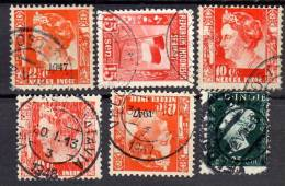 6 Stamps Cancel VELDPOST-BATAVIA & Palembang (=field Post Office) (NI48) - Nederlands-Indië