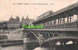 CPA 75 PARIS PASSY LE PONT DU METROPOLITAIN - Métro Parisien, Gares
