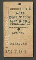QT77 BELGIUM 1st Cl Rochefort - Eprave Jemelle Jx5-8-x6S - Europe