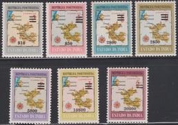 PORTUGUESE INDIA  PORTUGUESA 1959 MAPAS COM SOBRETAXA MAPES SURCHARGÉS  MAPS OVERPRINTED - Portuguese India