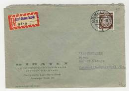 DDR Dienst Michel No. 27 gestempelt used auf Brief EF