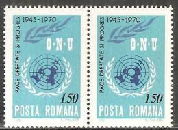 Romania 1970 Nuovo** - Mi.2887  Yv.2570  Coppia - 1948-.... Republics