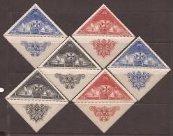 ES539-L4069TVÑ.España Spain.lote..DESCUBRIMIENT O DE AMERICA.Barcos. Colon.1930 (Ed 539,1,3**) Sinn Charnela.MAGNIFICO - Viñetas De Fantasía