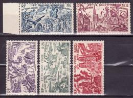 INDE - POSTE AERIENNE -  YVERT N°11/16 **/* - LEGERES ADHERENCES - COTE = 10.4  EURO - - India (1892-1954)
