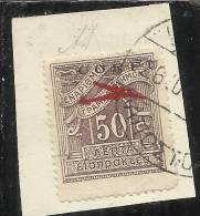 CORFU' 1941 POSTA AEREA 50 L USED USATO SU FRAMMENTO FIRMATO ALBERTO DIENA - 9. Ocupación 2ª  Guerra (Italia)