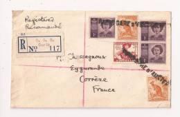 Linéaire  PARIS GARE D'AUSTERLITZ Sur LETTRE RECOMMANDE AUSTRALIE Pour La CORREZE - Poststempel (Briefe)
