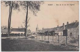 17342g CHARRETTE à Cheval - Rue De L'Eglise - Rongy  - 1912 - Brunehaut