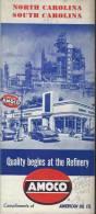 USA/North Carolina / South Carolina/Charlotte / Knoxville/AMOCO/American Oil Company/ 1950          PGC22 - Cartes Routières