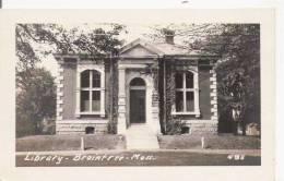 LIBRARY BRAINTREE MASS 495 (CARTE PHOTO) - Etats-Unis