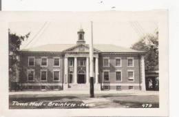 TOWN HALL BRAINTREE MASS 479 (CARTE PHOTO) - Etats-Unis