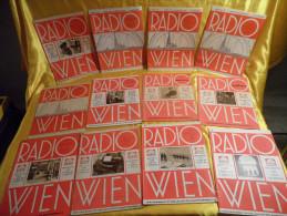Radio Wien - 20 Exemplare Aus Den Jahren 1929,1930,1931,1932 - Hobbies & Collections