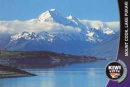 Mount Cook, Lake Pukaki, New Zealand - Kiwi Vista KV 1564 Unused - New Zealand