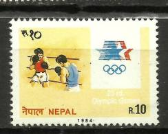 NEPAL, 1984, Summer Olympic Games, Los Angeles, Boxing, Sport, Atheletics,   MNH, (**) - Estate 1984: Los Angeles