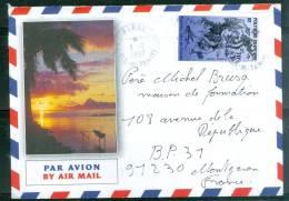Lettre De Tahiti Oblitéré Piraé En 1997 - Ax5519