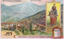 IMAGE CHROMO LIEBIG ANDORRE SAN JULIA DE LORIA LE COURRIER DE LA SEO D URGEL - Liebig