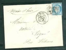 Yvert N° 60 III  SUR Lettre Oblitéré GC 2188 ( Le Mans E)   - AX5530 - 1849-1876: Classic Period