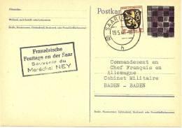LBL16 - ZOF SOUVENIR DU MARECHAL NEY OBL. SAARLAND 19/5/1946 - Französische Zone