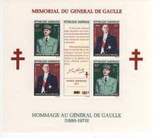 RÉPUBLIQUE GABONAISE  MÉMORIAL DU GÉNÉRAL DE GAULLE  HOMMAGE AU GÉNÉRAL DE GAULLE  B.F N°20 - De Gaulle (General)