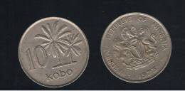 NIGERIA -  10 Kobo  1973  KM10 - Nigeria