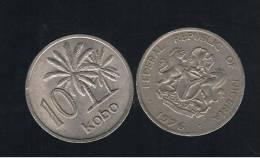 NIGERIA -  10 Kobo  1976  KM10 - Nigeria