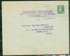 Yvert N°675  Seul Sur Lettre Oblitéré Paris 120 En Novembre 1947  - Ax5613 - 1945-47 Cérès De Mazelin